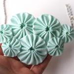 Mint green yoyo necklace